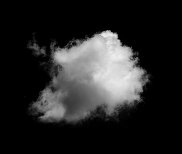 Weiße wolken auf schwarzer wand