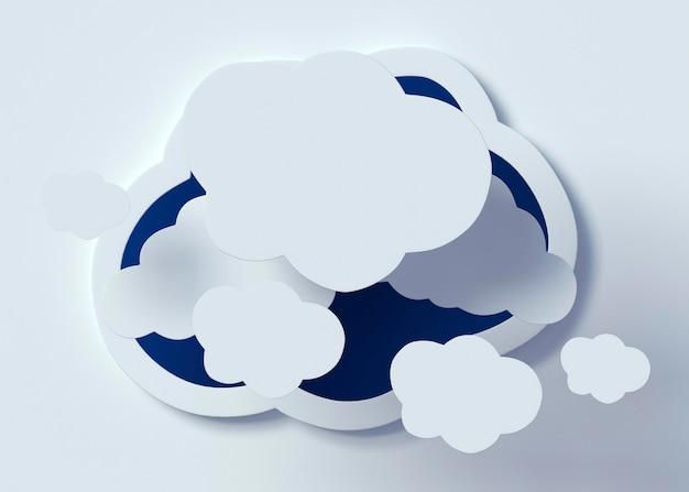 Weiße wolkenanordnung