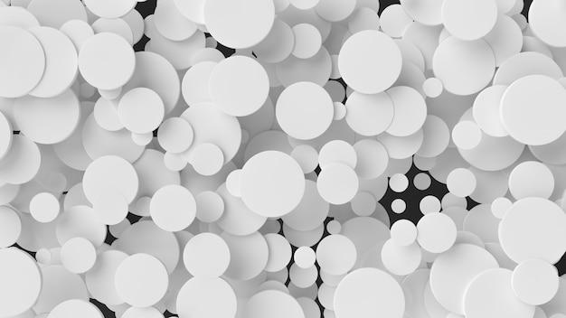 Weiße zylinder des abstrakten hintergrundes mit dynamischen zylindern 3d.