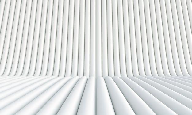 Weißer abstrakter hintergrund in röhrenförmigen formen. 3d-rendering