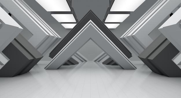 Weißer abstrakter hintergrund und platz