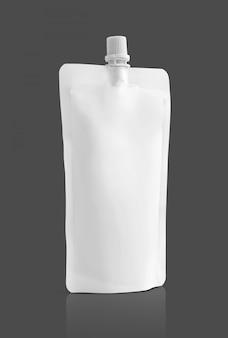 Weißer beutel für lebensmittelverpackungen