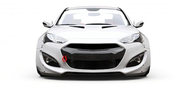 Weißer coupé-sportwagen