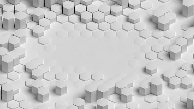 Weißer dreidimensionaler hintergrund der hohen ansicht