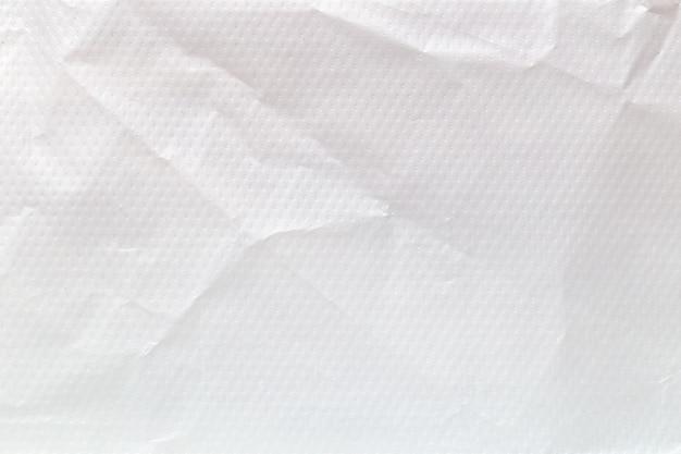 Weißer eco recycelter plastiktüten-texturhintergrund.