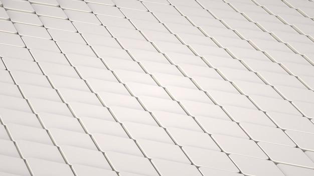 Weißer geometrischer hintergrund 3d