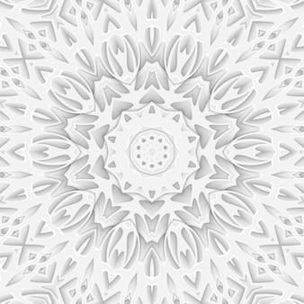 Weißer geschnitzter papierschnitthintergrund-bucheinband. kurvenlinien und wellenschicht. 3d-render-plakatschablonenmusterillustration
