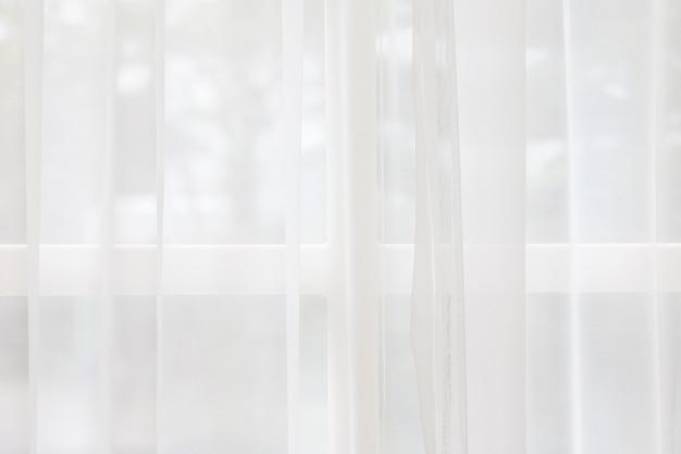 Weißer gewebebeschaffenheitshintergrund. aus vorhangstoff zerknittert.
