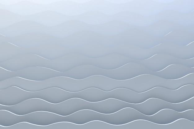 Weißer hintergrund des 3d-rendering-papierschnittwellenmusters
