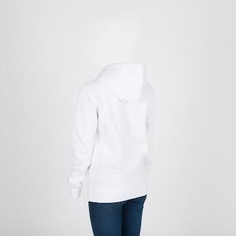 Weißer hoodie