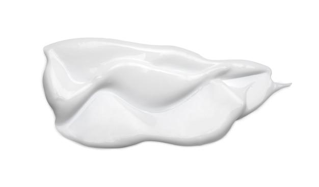 Weißer kosmetischer cremeabstrich lokalisiert auf weiß