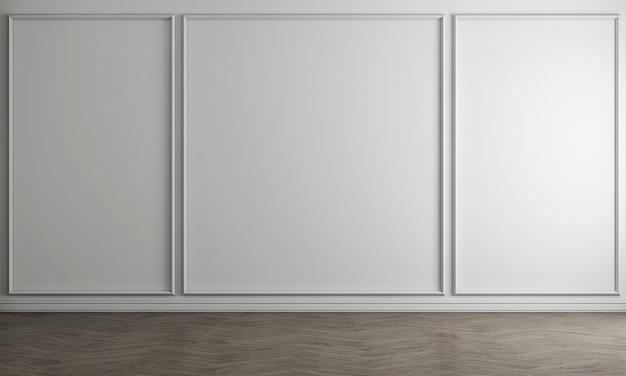 Weißer leerer wohnzimmerinnenraum mit teetisch