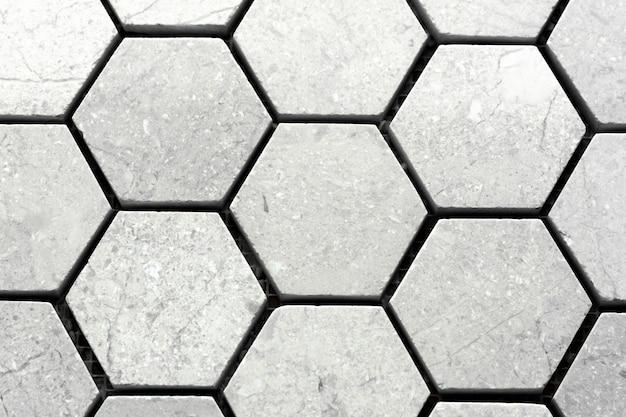 Weißer marmor aus hexaeder