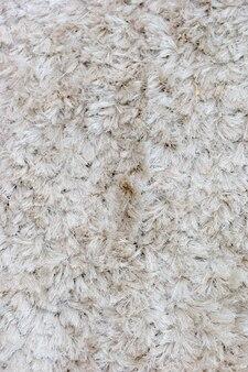 Weißer pelzteppich als hintergrund