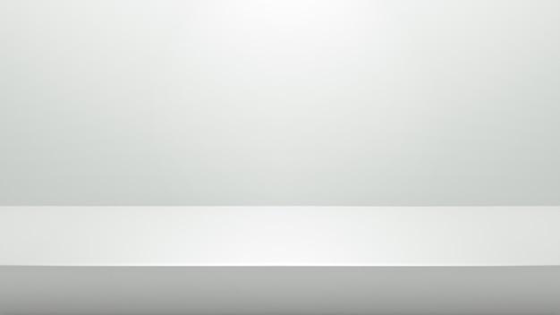 Weißer podiumstand für darstellungs- oder darstellungskonzept auf modernem raumhintergrund mit beleuchten licht