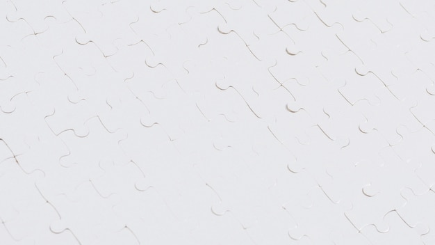 Weißer puzzle-hintergrund. draufsicht.
