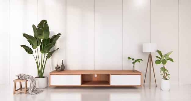Weißer raum weißer boden minimalistisches japanisches wohnzimmer