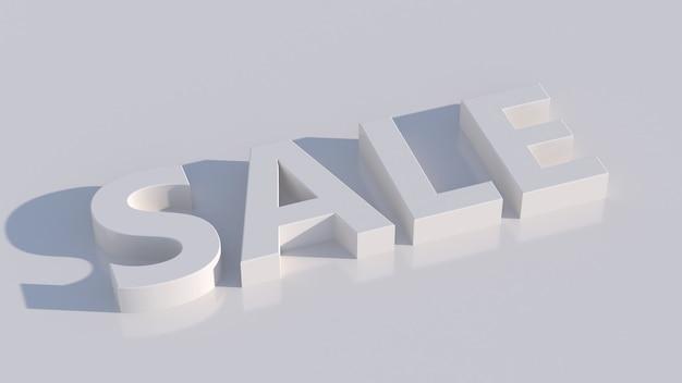Weißer sale typografieentwurf