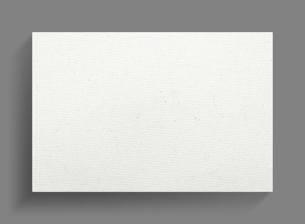 Weißer segeltuchrahmen auf grauem wandhintergrund.