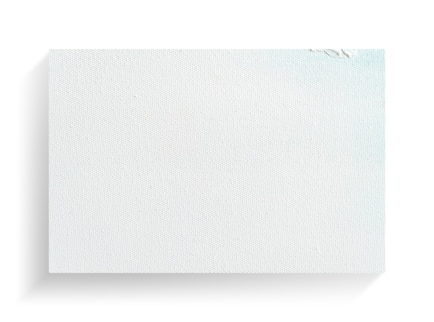 Weißer segeltuchrahmen auf weißem hintergrund.
