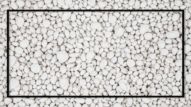 Weißer stein auf weißem hintergrund