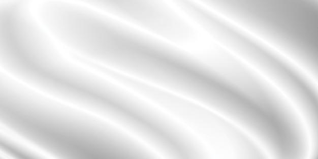 Weißer stoffhintergrund mit kopienraum 3d-darstellung