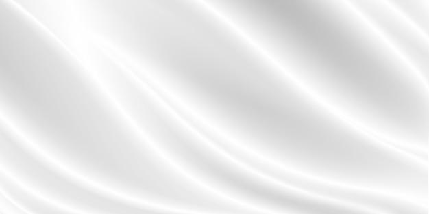 Weißer stoffhintergrund mit kopierraum