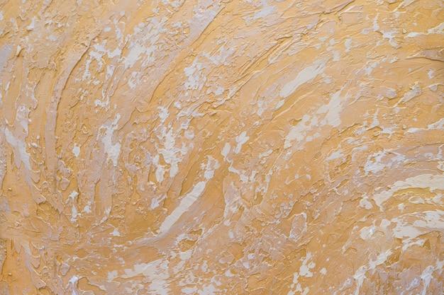 Weißer und goldener unordentlicher wandstuck-beschaffenheitshintergrund