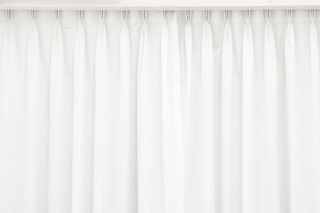 Weißer vorhang hintergrund.