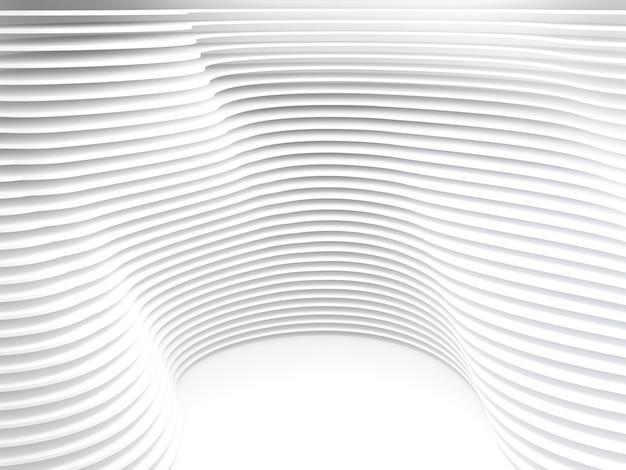 Weißer wellenhintergrund abstraktes minimales design