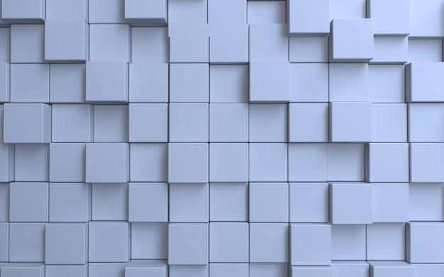 Weißer würfel abstrakter hintergrund
