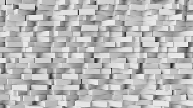 Weißer würfelauszugshintergrund. abstrakte weiße blöcke.