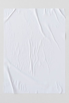 Weißer zerknitterter papierbeschaffenheitshintergrund