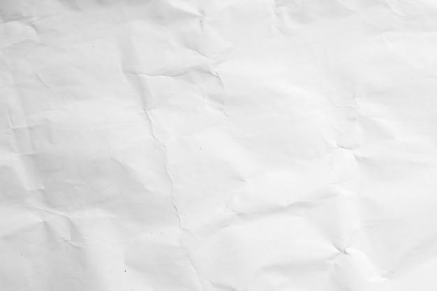 Weißer zerknitterter recyclingpapierhintergrund