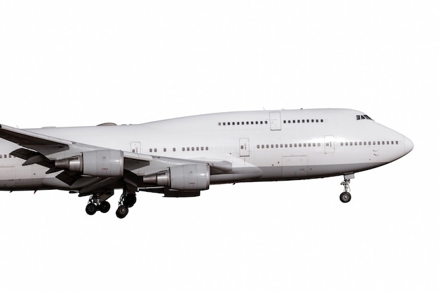 Weißes düsentriebwerk flugzeug