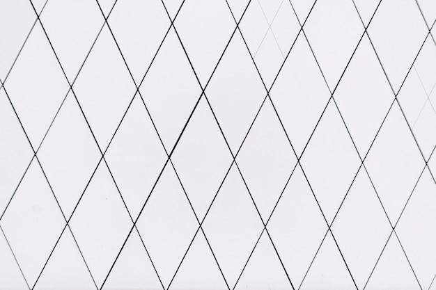 Weißes geometrisches motiv zement betonfliesen textur hintergrund banner mit rautenförmiger raute