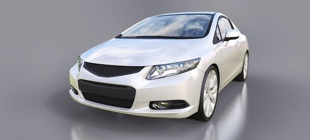 Weißes kleines sportwagen-coupé