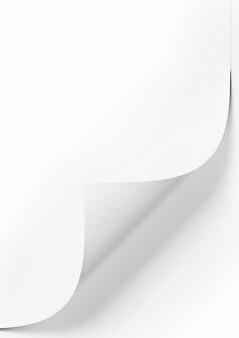 Weißes leeres papier auf weißem hintergrund