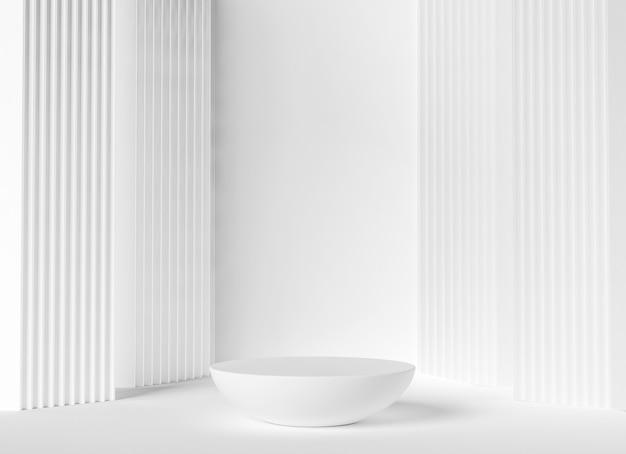 Weißes luxuspodest, sockel zur präsentation des produkts
