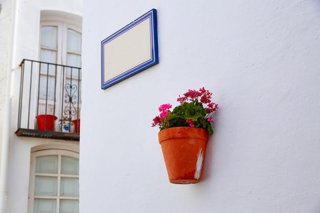 Weißes mittelmeerdorf spanien mojacar almeria