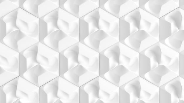 Weißes nahtloses innenmuster. 3d-illustration, 3d-rendering.