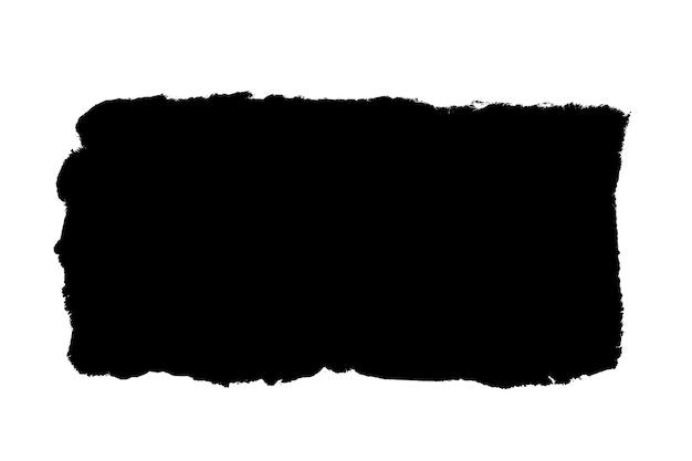 Weißes papier mit einem zerrissenen schwarzen fenster. hintergrund für design