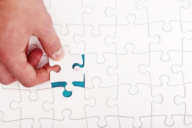 Weißes puzzle