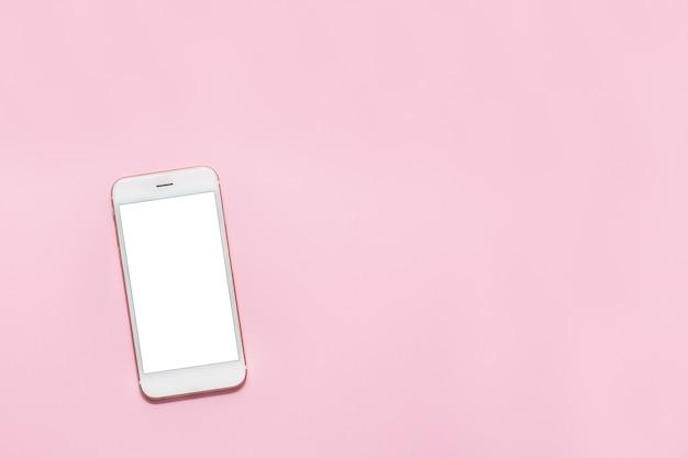 Weißes smartphone-handy mit weißem bildschirm