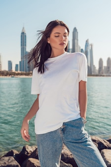 Weißes t-shirt mock-up