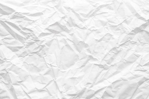 Weißes zerknittertes papier abstrakte hintergrundtextur