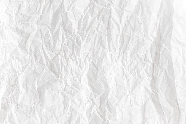 Weißes zerknittertes papier schließen den texturhintergrund