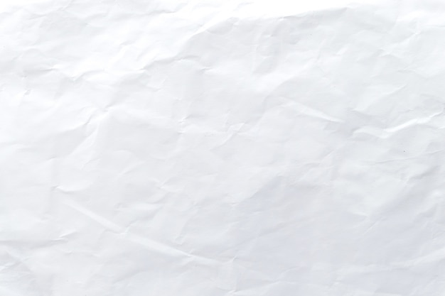 Weißes zerknittertes papiermuster und textur
