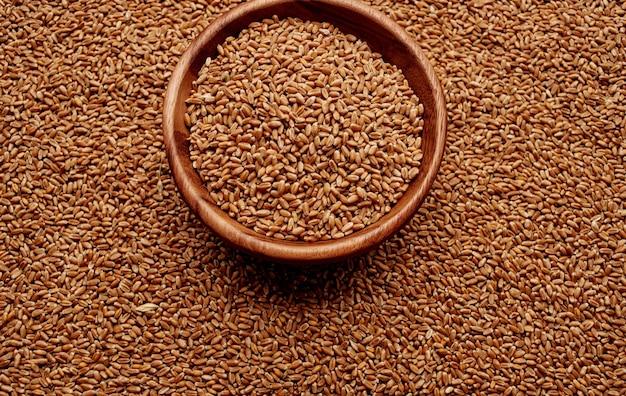Weizen in einer platte hintergrundbild textur draufsicht getreideprodukte