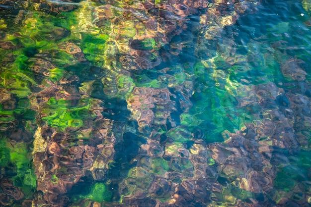 Wellen auf dem meerwasser. hintergrund. tapete